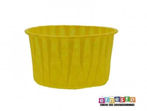 100lü-Kağıt-Muffin-Cupcake-Kalıpları-Sarı-75x4cm
