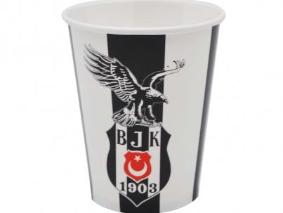 Beşiktaş-Baskılı-8li-Karton-Bardak