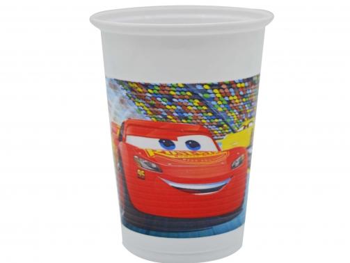 SImsek-McQueen-Cars-Baskili-Plastik-Bardak-8-Adet-resim-2741