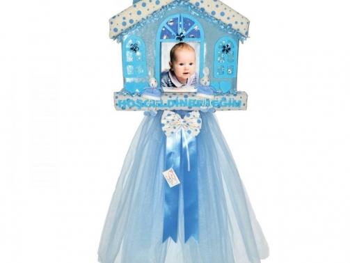 hosgeldin bebek kapi susu mavı