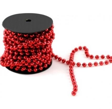 kırmızı zincir boncuk